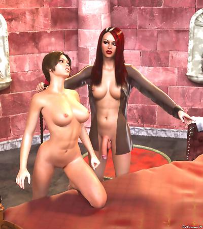 Threesome cg shemale sex -..