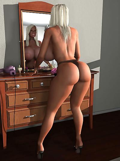 Big breasted 3d toon hottie..