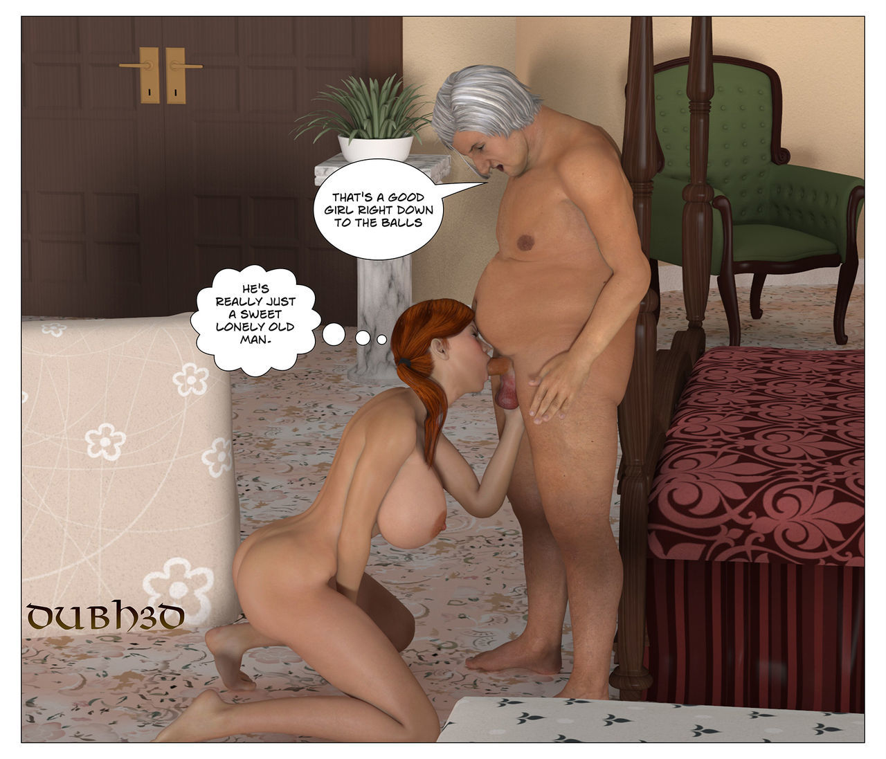 Dubh3d 3d RED: Dirty Old Man