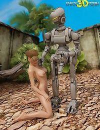 Time traveling robot fucks an incredible babe - part 6